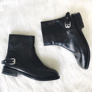 Rag & Bone | Leather Moto Ankle Boots